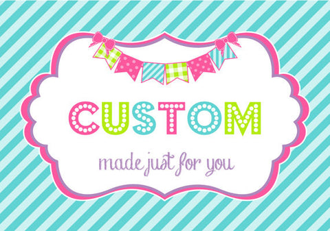 CUSTOM ORDER PROCESSING for New Designs 6oz Party Favor Cups, or 10oz Sippy Cups