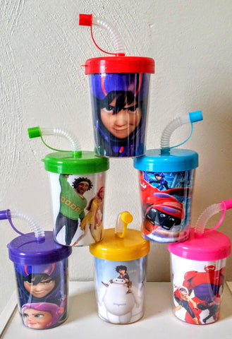 Big Hero 6 Party Favor Cups, Big Hero 6 Birthday Party Treat Cups Set of 6