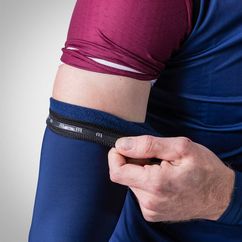 Roubaix Navy Arm Warmers