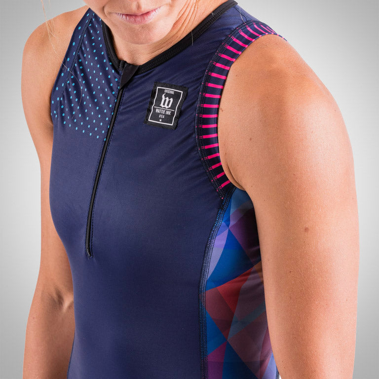 Women's Prism Navy Aero Triathlon Top