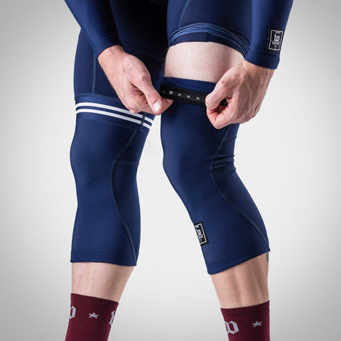 Roubaix Navy Knee Warmers