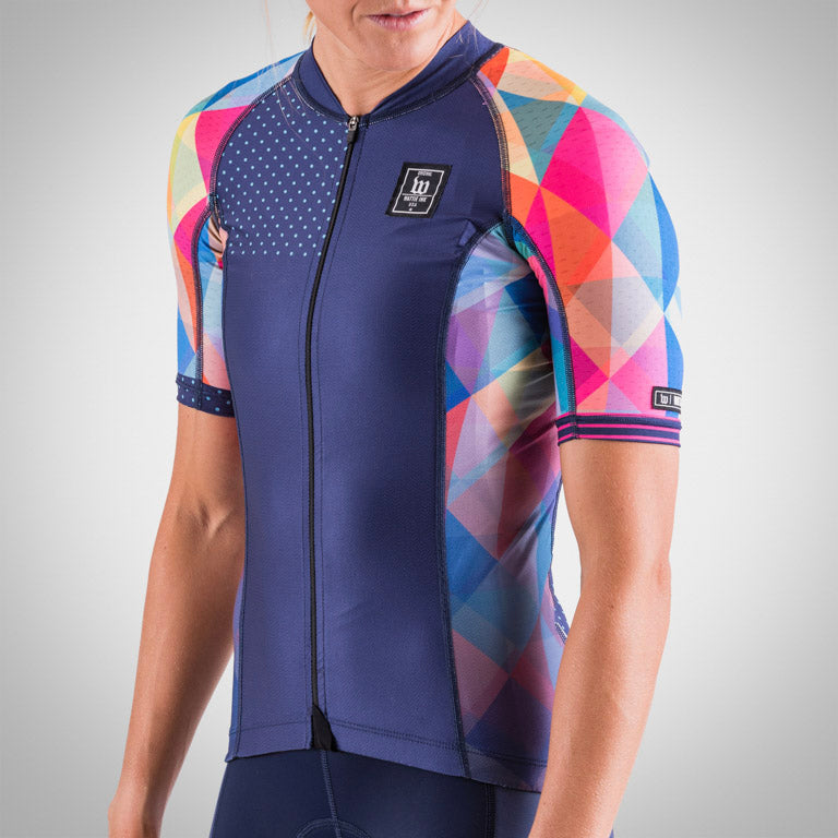 Women's Prism Navy Contender 2 Cycling Jersey