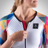 Women's Prism White Aero Triathlon Jersey
