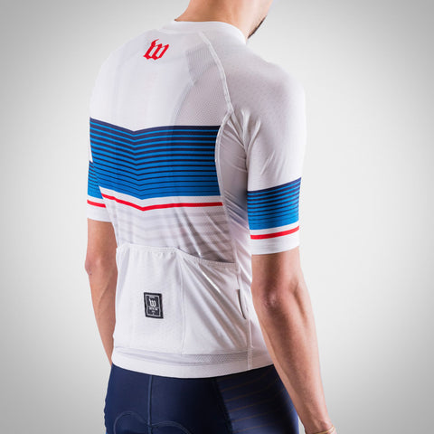 Men's Race Day Cycling Jersey - White-hover