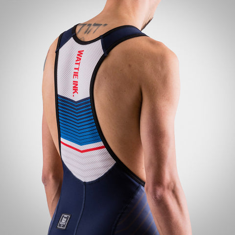 Men's Race Day Bib Short - White-hover