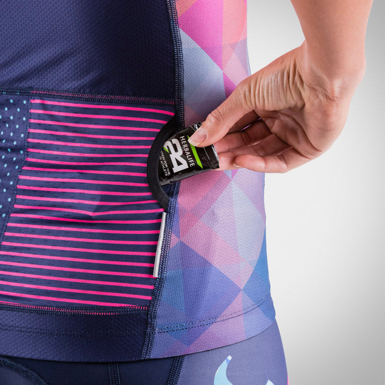 Women's Prism Navy Aero Triathlon Jersey