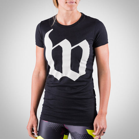 Women's Black Big W Tee