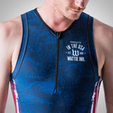 Men's Stars & Skulls Contender Aero Triathlon Top