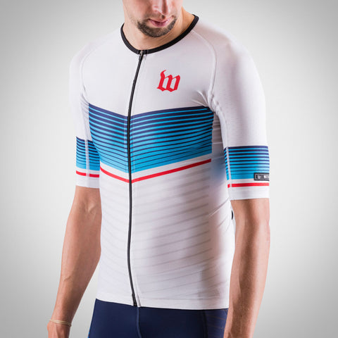 Men's Race Day Aero Triathlon Jersey - White