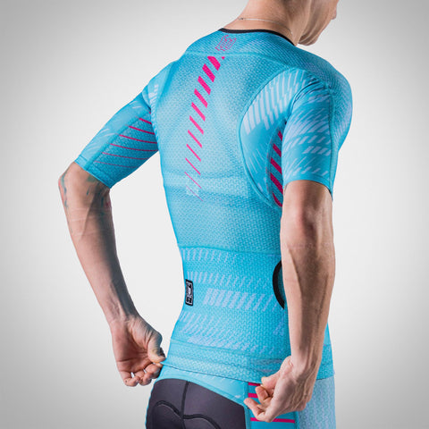 Women's AXIOM Champion Tri Aero Jersey - Blue Ice/Hottie-hover
