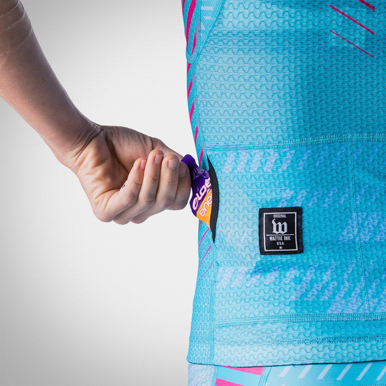 Women's AXIOM Champion Tri Aero Jersey - Blue Ice/Hottie