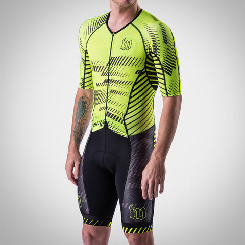 Men's Champion 2.0 Triathlon Speed-Suit - AXIOM Collection - Neon Ice/Black