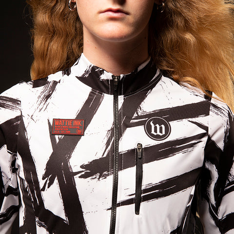 Women's Black & White Double Threat Jacket - Bolt