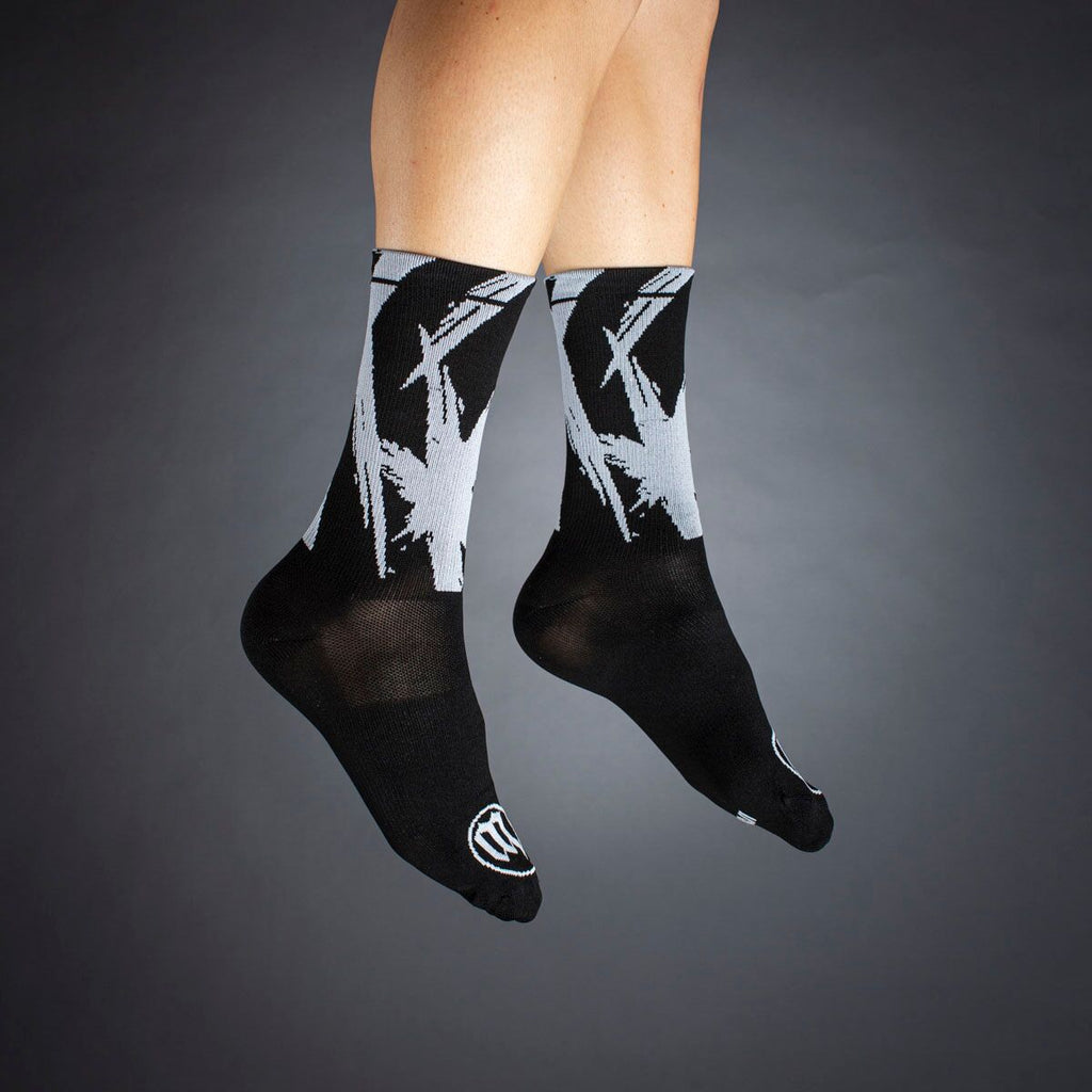 Black + White Socks - Bolt White