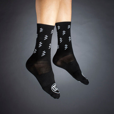 Black + White Collection Socks - Bolt Black