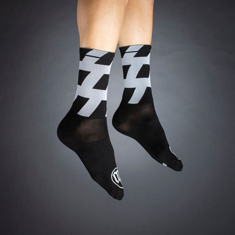 Black + White Socks - Stripe