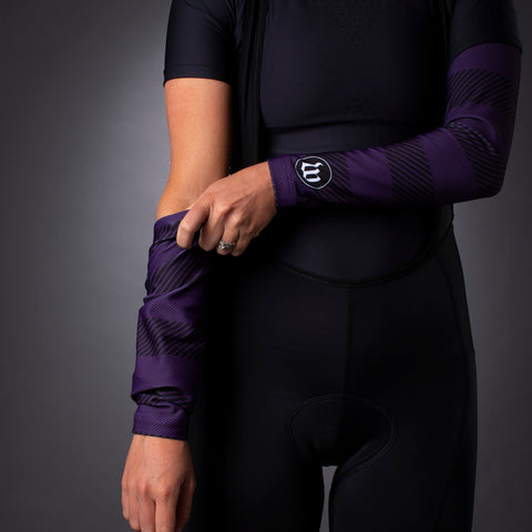 Recon Arm Warmers - Purple-hover