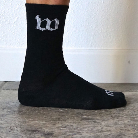 "Wattie Ink. ""Woolies"" Black Wool Socks"