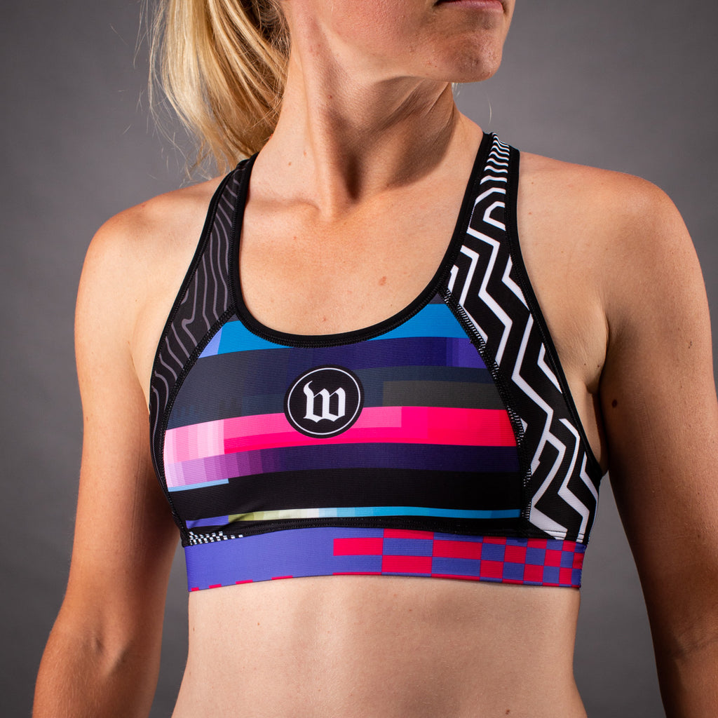 Women's Network Tech Contender Race Bra - Black/White