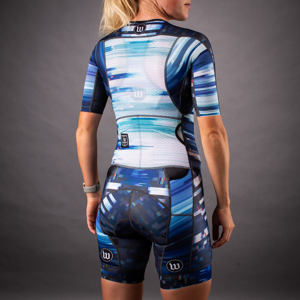 Network Collection Wave Champion Womens Tri-Speedsuit - White/Blue