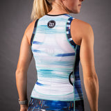 Network Collection Wave Contender 2.0 Womens Tri Top - White/Blue