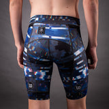 Network Collection Wave Contender 2.0 Mens Tri Bottom - White/Blue