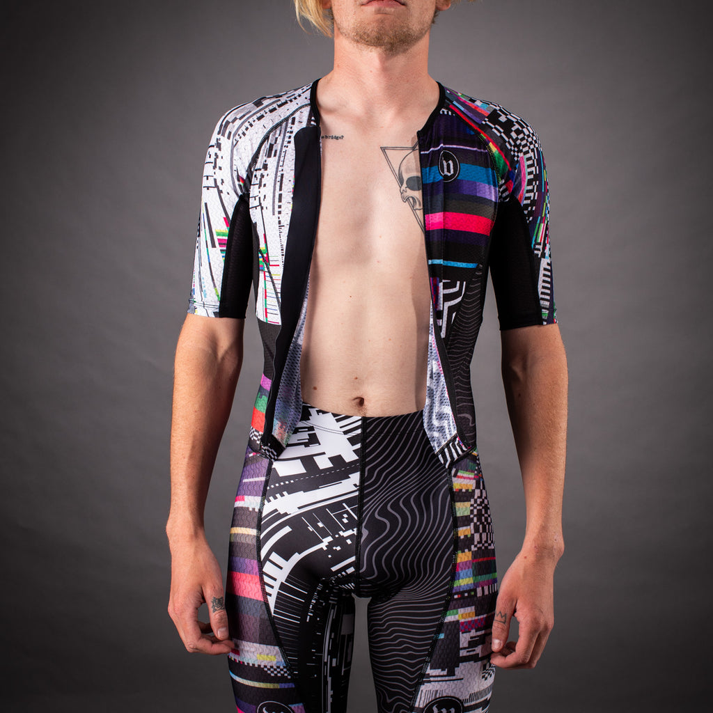 Network Collection Tech Champion Mens Tri-Speedsuit - Black/White