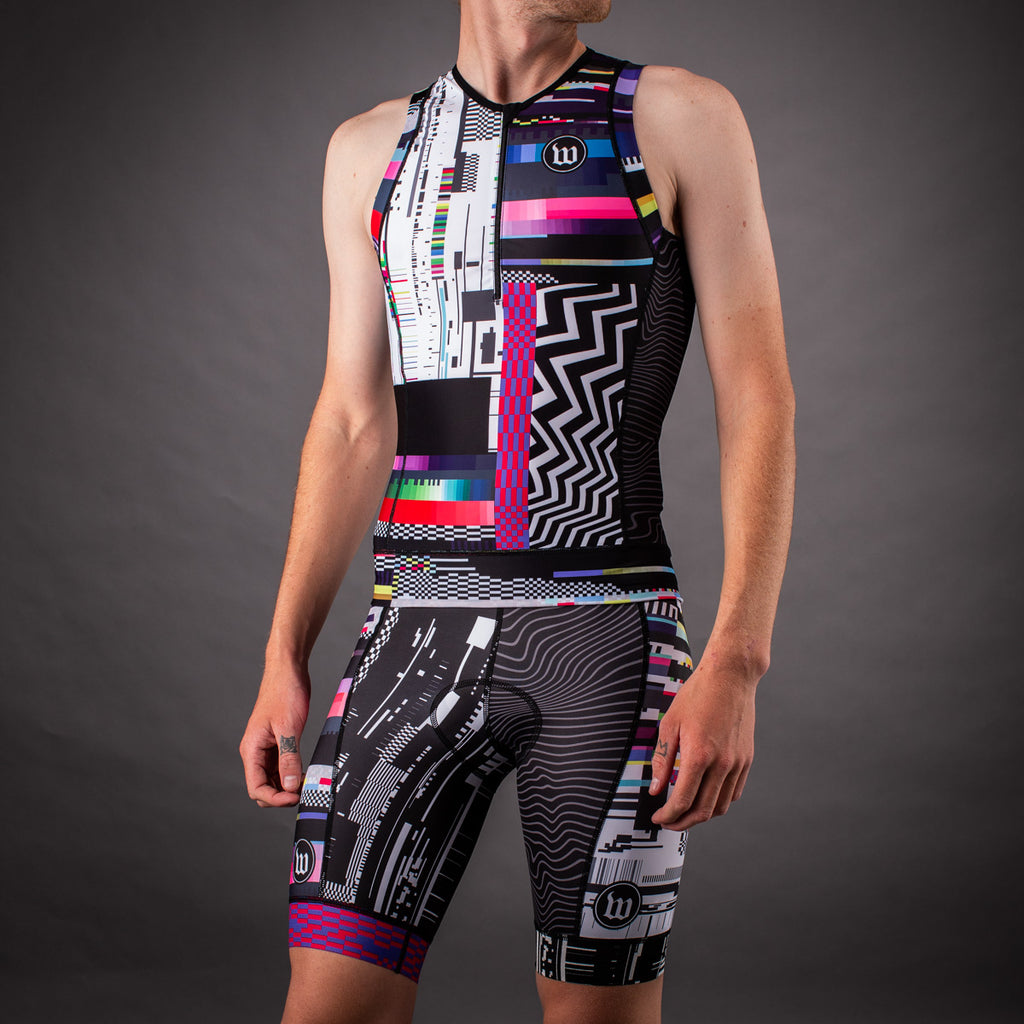 Men's Network Tech Contender 2.0 Tri Short - Black/White
