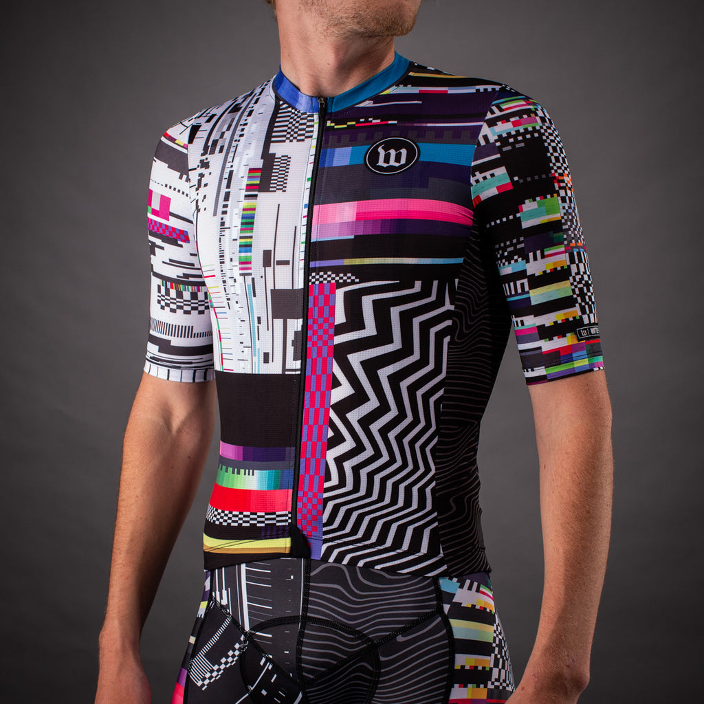Men's Network Collection Contender 2.0 SS Cycling Jersey - Tech Black/White
