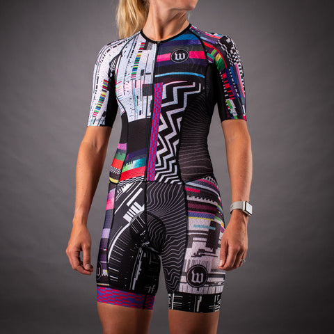 Network Collection Tech Champion Womens Tri-Speedsuit - Black/White