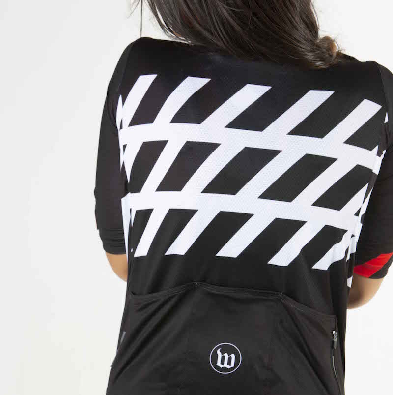 Black + White Collection Contender 2.0 Women's Cycling Jersey - Stripe