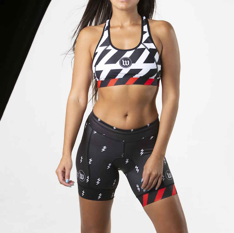 Black + White Collection Contender 2.0 Women's Tri Shorts - Bolt Black