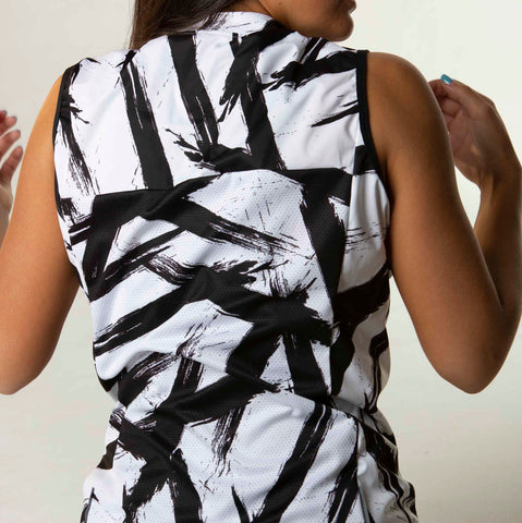 Women's Black + White Double Threat Vest - Bolt