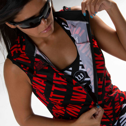 Black + White Collection Double Threat Women's Vest - The W RED