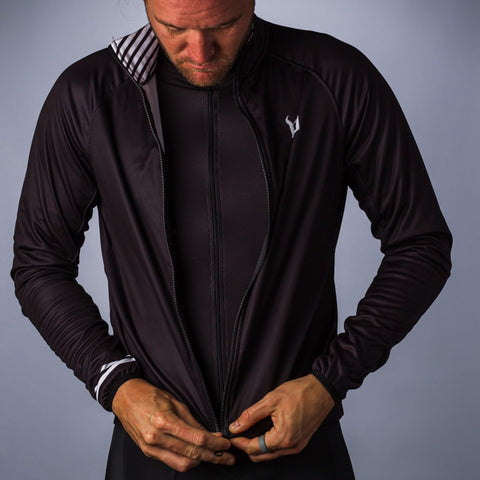 Men's Classic Black Thermal Jacket
