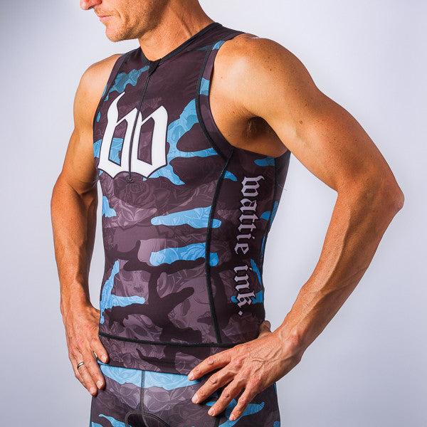 Men's SKY CDA Camo Aero Triathlon Top