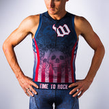 Men's USA Skulls Aero Triathlon Top