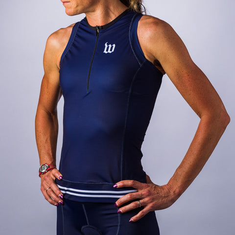 Women's Classic Collection Navy Aero Triathlon Top