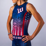 Women's USA Skulls Aero Triathlon Top