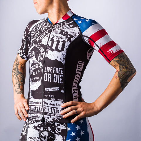 Women's American Punk Cycling Jersey