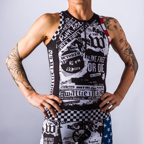 Women's American Punk Tri Top