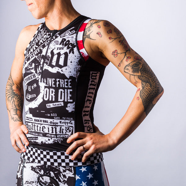 Women's American Punk Aero Triathlon Top