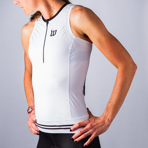 Women's Classic Collection White Aero Triathlon Top