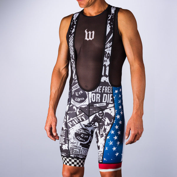 Men's American Punk Bib Short