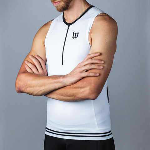 Men's Classic Collection White Aero Triathlon Top-hover