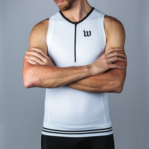 Men's Classic Collection White Aero Triathlon Top