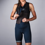 Women's Classic Collection Navy Aero Bib Short