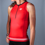 Women's Classic Collection Red Aero Triathlon Top