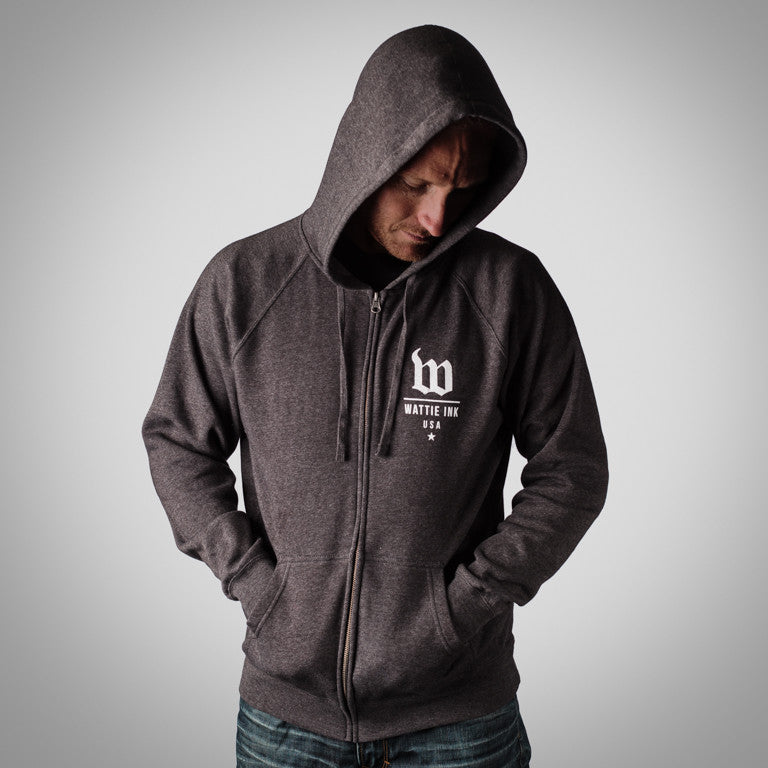"The ""Classic"" Men's Carbon Special Blend Zip-Front Hoodie"
