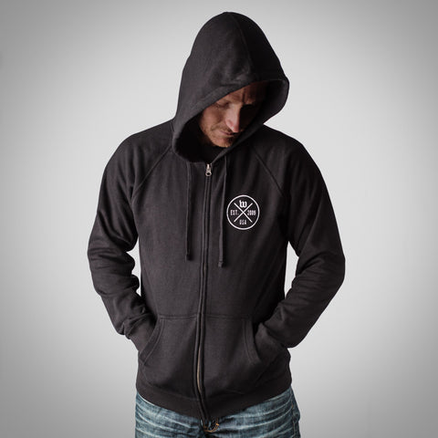 "The ""Hipster"" Men's Black Special Blend Zip-Front Hoodie"